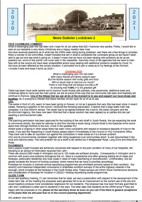 Click on the image to download the PDF - SRRA Bulletin